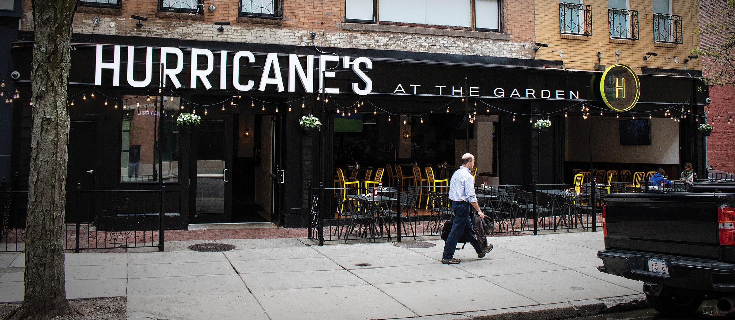 Hurricanes boston bar restaurant branding identity logo