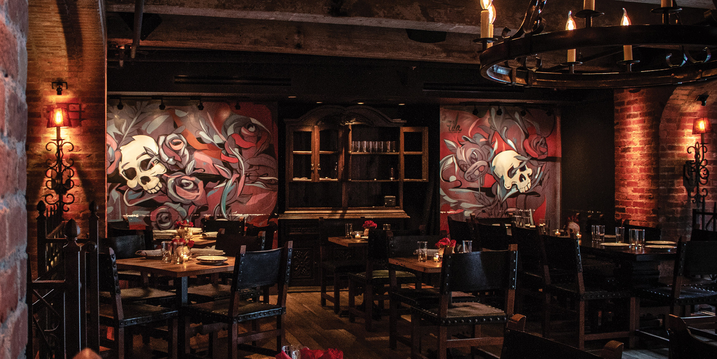 Lolita Mexican Restaurant Branding mural design